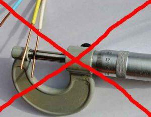 Как узнать сечение кабеля без микрометра и специнструмента
