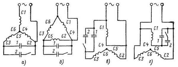 Как подключить трехфазный двигатель к сети 220 В